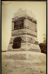 Large Albumen Gettysburg Monument For Berdann's Sharpshooters 12 By 8 In