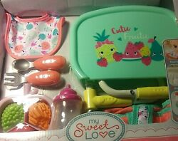 My Sweet Love Baby Doll Portable Table Feeding Play Set- 9 Pieces New