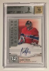 2007-08 Ultimate Collection Rookie 158 Carey Price 21/99 Bgs 9 / Autograph 10