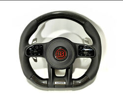 Carbon Leather Steering Wheel For Mercedes W222 W463a G63 S63 S-class G-wagon