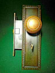 Sargent 6344 2 7/8 Bs, Entry Mortise Lock W/knobs, Key, And Escutcheons 15937