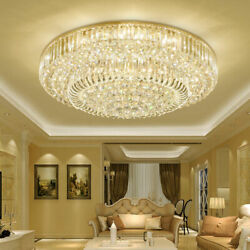 Luxury Gold Crystal Chandelier Lighting Foyer Hall Entry Way Chandeliers Light