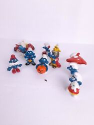 Vintage Smurfs Figures Lot 1970s 1980s As Shown Free Shipping