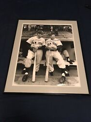 Mickey Mantle And Joe Dimaggio Signed Photo 16x20 - Psa/dna Authenticated
