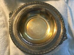 Vintage Ornate Silver Plated Bowl Gaiety Wm Rogers And Sons 2135.