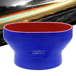 Hps Silicone Blue Oval To Round Hose Coupler 55mm Throttle Body To 3.50 Tube