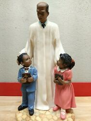 Black Americana Collectibles Preacher With Two Sunday School Kids A1
