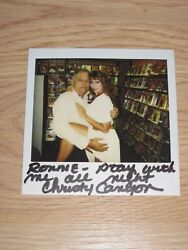 1994 One Of A Kind Christy Canyon Signed Sexy Polaroid Photo/16/free Shipping