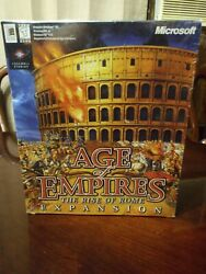 Rare Age Of Empires The Rise Of Rome Expansion Pack Completely Factory Sealed