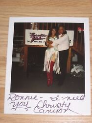 1994 One Of A Kind Christy Canyon Signed Sexy Polaroid Photo/free Shipping