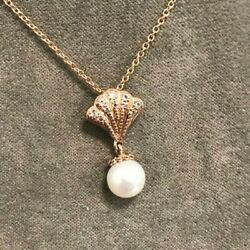 Welsh Clogau Gold 9ct Yellow And Rose Gold Windsor Pearl Pendant 22 £360 Off