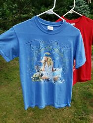 Taylor Swift Fearless Tour Tea Party Shirt Blue Small