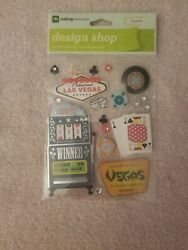 States- Las Vegas Scrapbook Stickers Slot Machines, Cards And Poker Chips