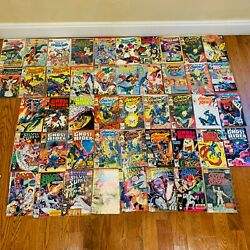 Vintage Lot Of 47 Spiderman Ghost Rider Silver Surfer Comic Books