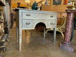 18th Century Antique George Iii Grained Bleached Oak Dressing Table