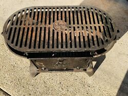 🔥 Lodge Sportsman's • Cast Iron Grill Bbq Outdoors Portable • Made In Usa