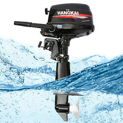 Hangkai 4 Stroke 6.5hp Outboard Motor Marine Boat Engine Water Cooling System