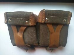 Soviet Russian Kirzovy Ammo Pouch For Mosin Nagant Rifle Genuine Red Army