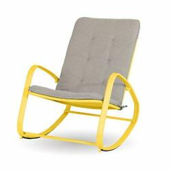 Sophia And William Outdoor Rocking Chairs Patio Metal Rocker Support 300lbs Yellow