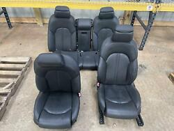 11-18 Audi A8 D4 4h Mlb Front Rear Black Leather Seats Set Heated Cooled Memory