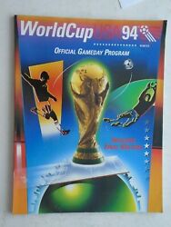 World Cup Usa 94 Official Gameday Program With Pull Out Chart Of Matches