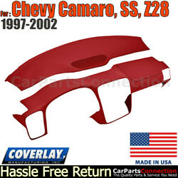 Coverlay Combo Kit Red 18-904c-rd Dash/vent Cover For 97-02 Chevy Camaro,ss,z28