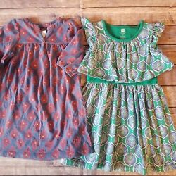 Tea Collection Lot Of 2 Girls Dresses, Size 3t