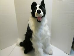 Melissa And Doug 26 Inch Black And White Border Collie Plush Excellent