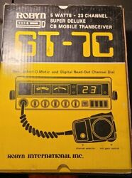 Rare Vintage Robyn Gt-7c Cb Radio W/ 23 Am Channels And Jmr Model 40 Microphone