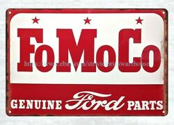Vintage Reproduction Wall Signs Fomoco Genuine Ford Parts Metal Tin Sign