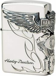 Zippo Lighter Harley Davidson Japan Limited Three-sided Continuous Processing