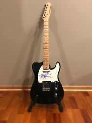 Eric Martin Signed Autographed Electric Guitar Mr Big Proof 1