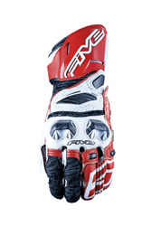 Five Rfx Race White/red Motorbike Sports Gloves Advanced Carbon Technology