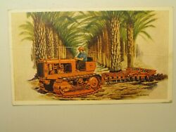 K1010 Postcard Allis Chalmers Model M Tractor 1941 -crease Through The Entire