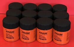 Case Of 12 Engine Oil Filter Fram Extra Guard Ph3675 For Chevrolet, Cadillac Gmc