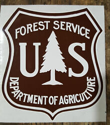 USFS UNITED STATES FOREST SERVICE BROWN AND WHITE DECALS STICKERS 2 INCHES