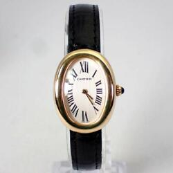 Auth Watch Baignoire 378409mg Automatic Leather Belt F/s
