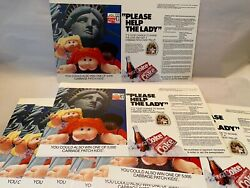 """16 Coca Cola 1985 """"please Help The Lady"""" Statue Of Liberty Campaign"""