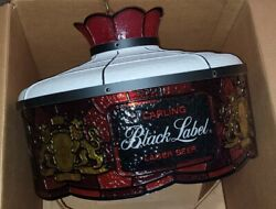 Vintage Carling Black Label Beer Style Hanging Lamp Brand New In Box Nos