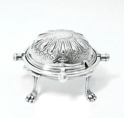 William B. Meyers Miniature Sterling Silver Roll Top Bread Or Bun Warmer Large