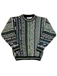 Classic By Palmland Coogi Style Textured Cosby Sweater Pullover Size Large