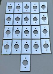 Stainless Steel Receptacle Wall Plates Single Outlet Cover 1.40