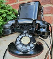 Antique Western Electric E1 1930's Rotary Dial Phone Art Deco Telephone 557 B
