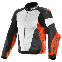 Motorcycle Jacket Dainese Super Race White/red - Size 56