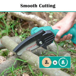 Seesii 1.5 Hours Working 2pcs Battery Mini Pruning Chain Saw Saw For Branch Tool