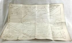 1889 Antique Map Of Sheffield Effingham Gas Works Don Steel Works Rare Planotype