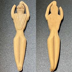 Ancient Indus Valley Harappan Terracotta Seated Fertility Figurine 2000 Bce