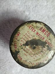 Vintage Antique Betex Water Finder White Glass Bottle And Lid.