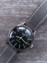 Vintage Wittnauer 24 Hour Military Field Watch Made By Longines