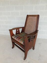 Antique Mission Oak Art And Crafts Accent Chair